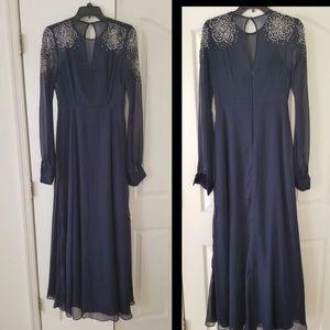 ASOS wedding long sleeve dress